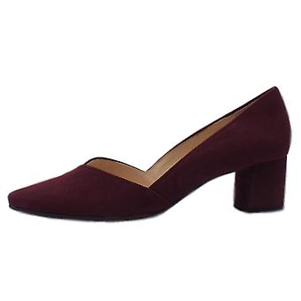 Högl 8-10 4522 Honey Stylish Pointed Toe Suede Court Shoes In Vino Suede