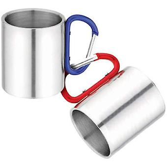 Milestone Stainless Steel Carabina Handled Camping Cup 300ml