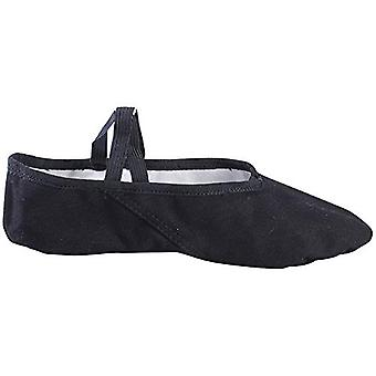 Baiwu Canvas Ballet Slipper for Women Girls, Split Sole Ballet Shoes