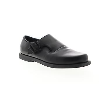 Camper Mortimer  Womens Black Leather Strap Flats Oxfords Shoes