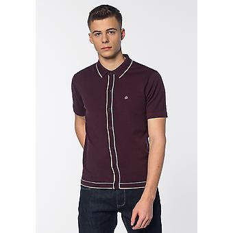 Merc DEVON, Contrast Tipped Details Knitted Men's Polo Shirt