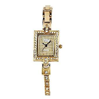 Eton Womens Gold Tone Stone Set Tennis Bracelet Fashion Watch - 3062L-GD