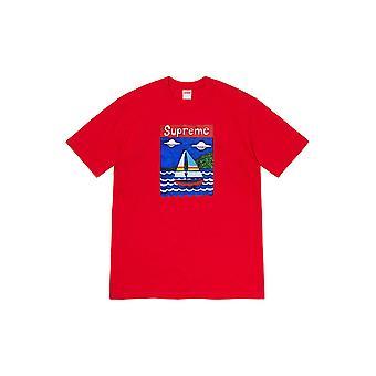 Supreme Sailboat Tee Red - Clothing