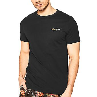 Wrangler Mens Short Sleeve Good Times Crew Neck Graphic T-Shirt Tee Top - Black