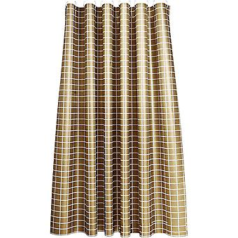 Golden Plaid Shower curtain 180x180cm