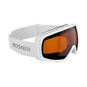 بوغنر أحادية اللون سونار قناع التزلج الأبيض