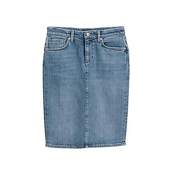 Gant Women's Blue Denim Skirt
