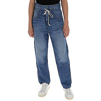 Semi-couture S0sy03jns02 Women's Blue Cotton Jeans