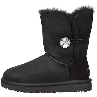 Ugg Australia Womens Bailey Button Bling Genuine Shearling Faux Fur Closed To...