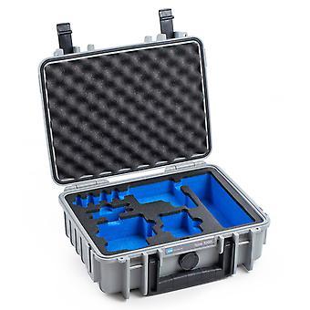 B&W GoPro Case Typ 1000 für GoPro HERO 5/6/7, Grau Mit Schaumstoffeinsatz