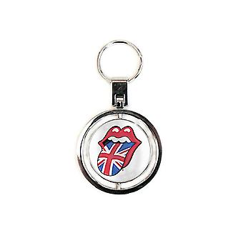 The Rolling Stones Keyring Keychain UK and USA Tongues new Official spin