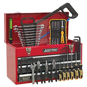 Sealey Ap9243Bbcombo Portable Tool Chest 3 Drawer Bearing Runners 72Pc Tool Kit