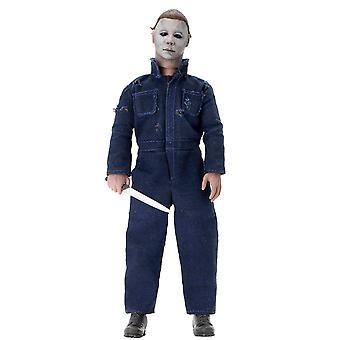Halloween 2 - 8- Scale Clothed Action Figur Michael Myers blau/grau, Figur 100 % Kunststoff, Kleidung aus Stoff, von NECA.