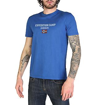 Man cotton short t-shirt round t-shirt top n87927