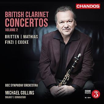 Britten, Benjamin / Cooke, Arnold / Collins, Michael - British Clarinet Concertos 2 [CD] USA import