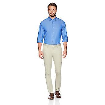 BUTTONED DOWN Men's Slim Fit Stretch Non-Iron Dress Chino, Khaki, Size 31W x 34L