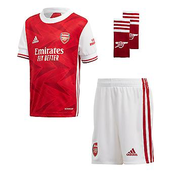 adidas Arsenal 2020/21 Junior Kids Football Home Mini Kit Red