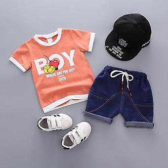 Baby Boys T Shirt And Shorts Summer Clothes,Boy Slogan