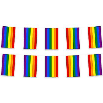 Pack of 3 Rainbow Bunting 15m Pride Polyester Fabric