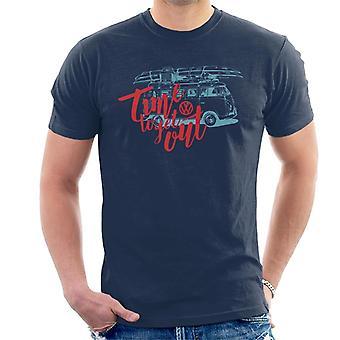 Volkswagen tijd om uit te komen camper mannen ' s T-shirt