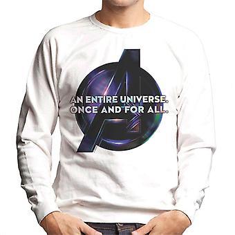 Marvel Avengers Infinity Krieg ein ganzes Universum einmal und für alle Herren Sweatshirt