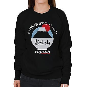 The Ramen Clothing Company Fujisan Traditional Ramen White Text Women's Sweatshirt