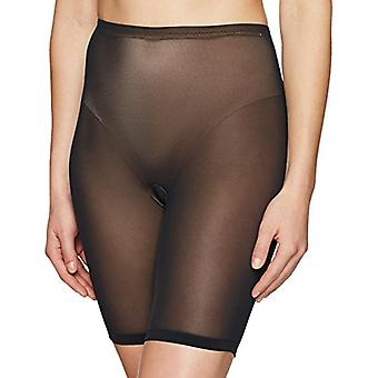 Brand - Arabella Women's Smoothing Shapewear with Thigh and Tummy Control, Black, Small