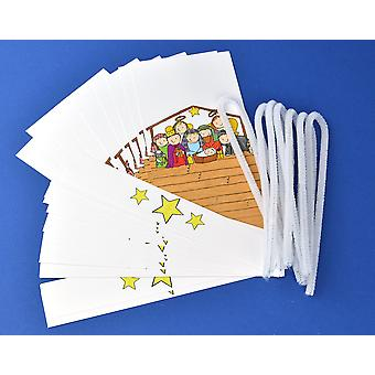 Cracker Wraps & Ties for 8 Crackers - Kids Christian Presivity