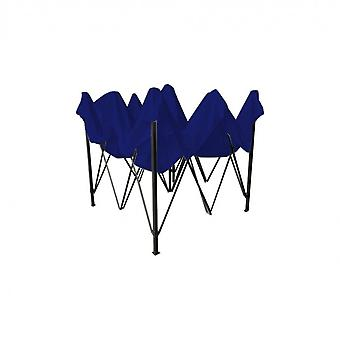 Rebecca Huonekalut Huvimaja Sininen Pressu resealable 4 Painot Metalli Polyesteri 3x3