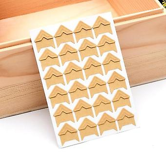 Diy Album Corner Sticker Kraft Paper Stickers 5sheet 120pcs - Scrapbooking