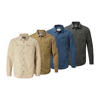 Craghoppers Mens קיווי טרק שרוול ארוך חולצה קנגורו 2XL