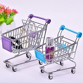 Mini Baby Trolley Supermarket Handcart, Carts Storage Folding Shopping Cart