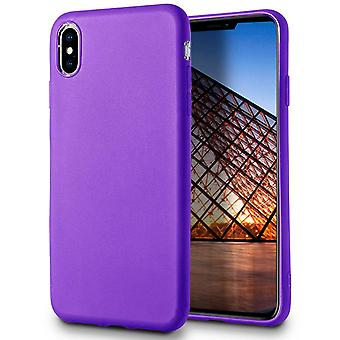 Soft Mobile Protection for iPhone XS Max Lightly Solid Solid Thin Silicone Ultra-Slim Purple