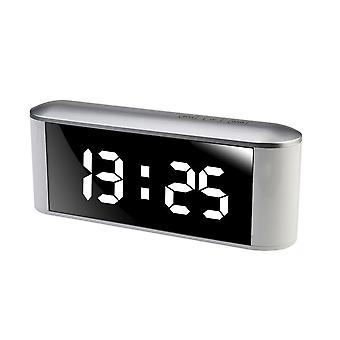 Multifunctionnal USB Charging Touch Screen LED Mirror Clock White