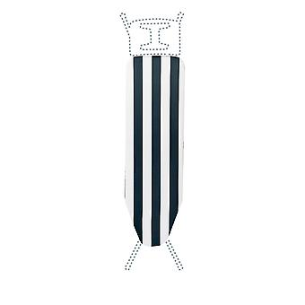 Granit Replacement Ironing Board Cover | Laminated Thick Felt | Adjustable Size Fits up to 105 x 30cm | Black Stripe