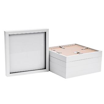 Nicola Spring Photo Frame - Acrylic Box Frame (Glass Cover) - 20x20in - White - Pack of 5