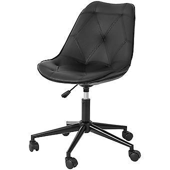 SoBuy FST85-SCH,Sedia da ufficio girevole regolabile Sedia Da ufficio con sedile imbottito PU & Posteriore