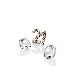 أنيس الماس الساخن أنيس روز الذهب مطلي الجنيه الاسترليني الفضي21 سحر AC060
