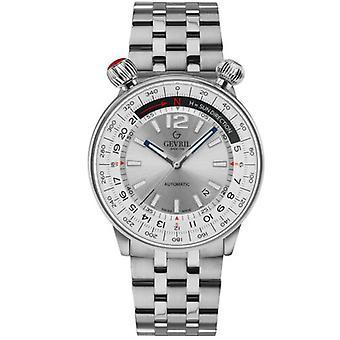 Gevril Men's 48560 Wallabout Swiss Automatic Rotating Bezel Steel Watch