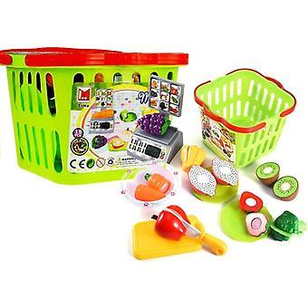 Speelgoed winkelmand met Fruit & Groenten - Met kassa