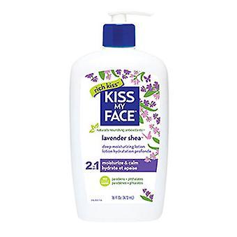 Kiss My Face Deep Moisturizing Lotion, Lavender & Shea Butter, 16Oz