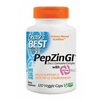 Doctors Best PepZin GI Zinc Carnosine Complex, 16 mg, 120 Veggie Caps