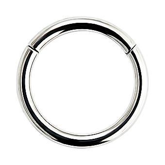 20 Gauge ( 0.8MM ) - 9MM Diameter 316L Chirurgische staal gekcharnier Clicker Segment Neus ring piercing