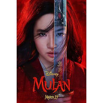 Mulan Original Movie Poster Advance Style UV Coated / High Gloss