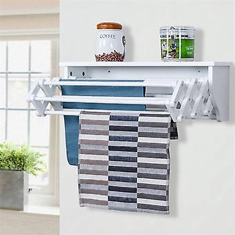 Wall Mounted Folding Clothes Towel Drying Rack