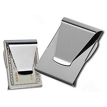 Stainless Steel Id Card Folder Double Sided Wallet Holder Slim Money Clip