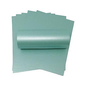 10 ark med A4 sea blue sparkle kort 300gsm