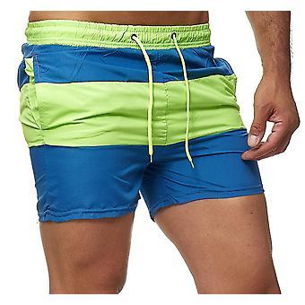 Mens Striped swimming trunks Bermuda Shorts Vacation Beachwear Trousers Swimwear