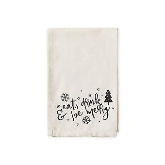 Eat Drink Be Merry-cotton Muslin Napkins