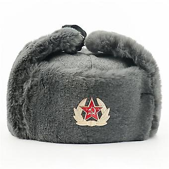 Soviet Army Military Badge Russia Ushanka Bomber Hats, Pilot Trapper Trooper